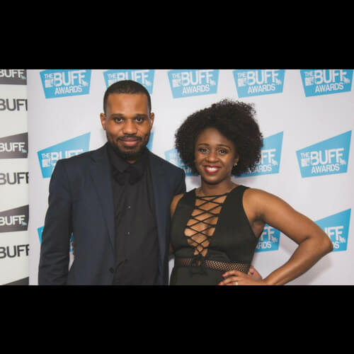 Emmanuel and Clare Anyiam-Osigwe at the BUFF Awards. BUFF awards. Black couple. Studded black couple. Fashionable black couple.