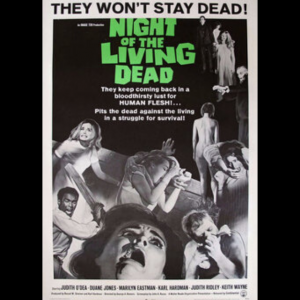 Night of The Living Dead film poster 1968 (Duane Jones, Judith O'Dea)