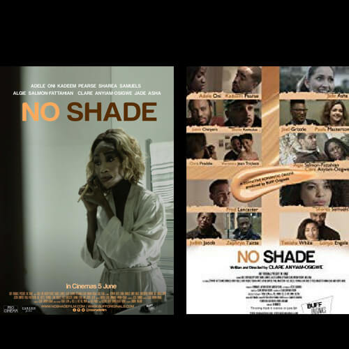 No Shade. No Shade film covers. Women with bleaching face products. Romantic love, drama film.