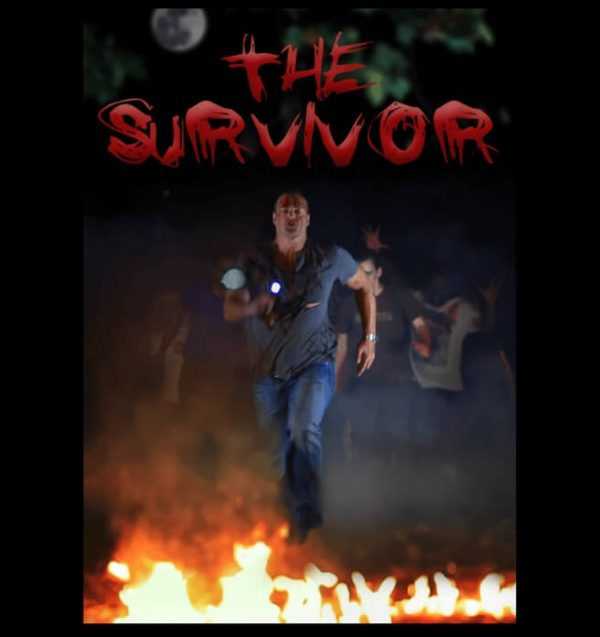 The Survivor, short zombie horror film. Man running. Click to enhance viewing. Product number 1416. Available on www.marilynfilms.com.