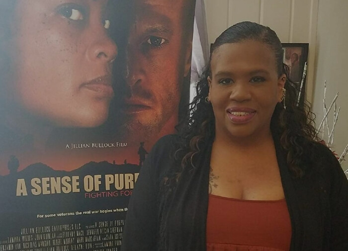 Jillian Bullock: Writer And Director Of A Sense Of Purpose. A Sense Of Purpose: Fighting For Our Lives. Movie poster. Women in foreground.