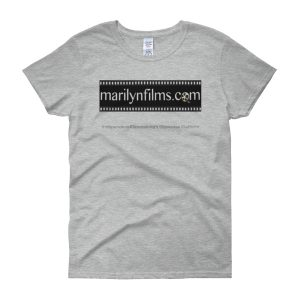 KIDS SHORT SLEEVE T-SHIRT: Click for enhanced viewing. Available on www.marilynfilms.com, Merchandise + page.