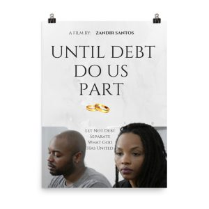 Until Debt Do Us Part movie poster. African American couple. Click to enhance viewing. Available on www.marilynfilms.com, product number 1924.