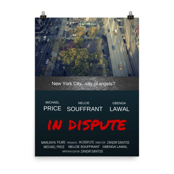 In Dispute movie poster. Bird's eye view, Manhattan. Click to enhance viewing. Available on www.marilynfilms.com, product number 1643.